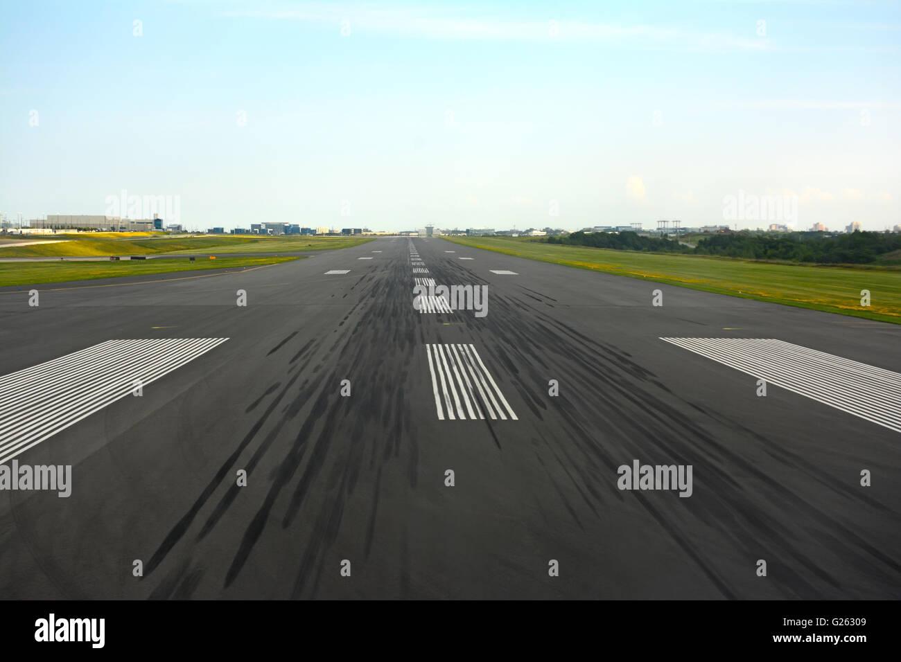 Airport runway - Stock Image