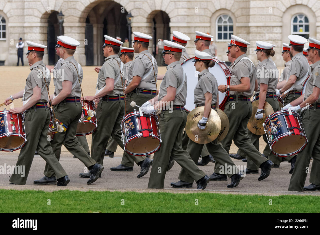 in foot stock bands guards mall at massed photos marching royal london images photo musicians of the along