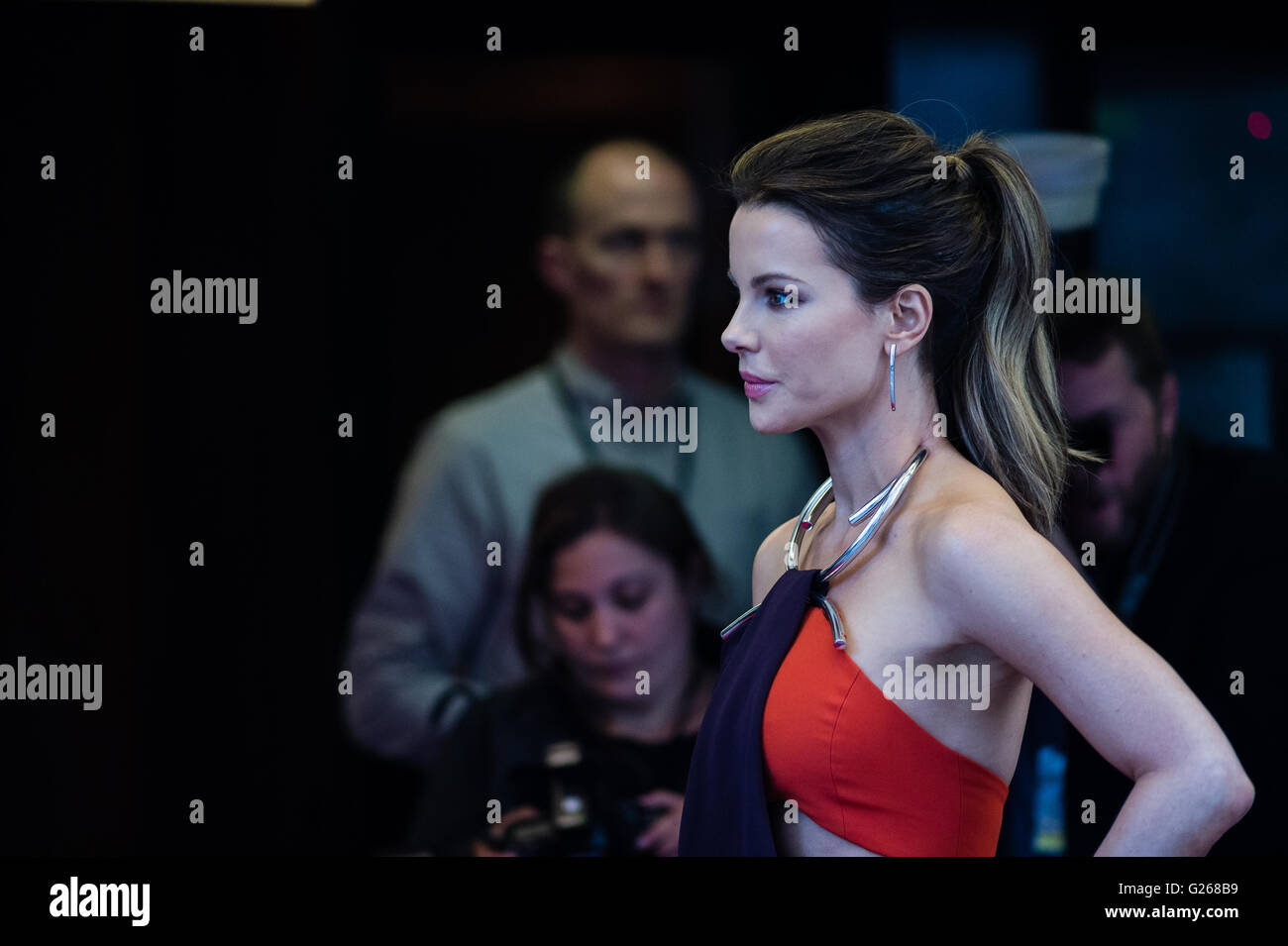 London, UK. 24th May 2016. Kate Beckinsale attends the UK premiere of 'Love & Friendship' in Curzon - Stock Image