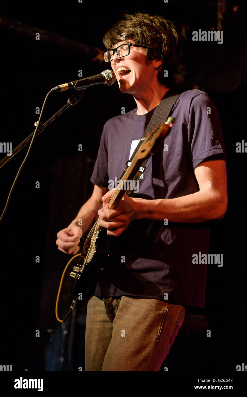 Washington, D.C, USA. 23rd May, 2016. WILL TOLDEO, aka CAR SEAT HEADREST performs at the Black Cat. His latest album, - Stock Image