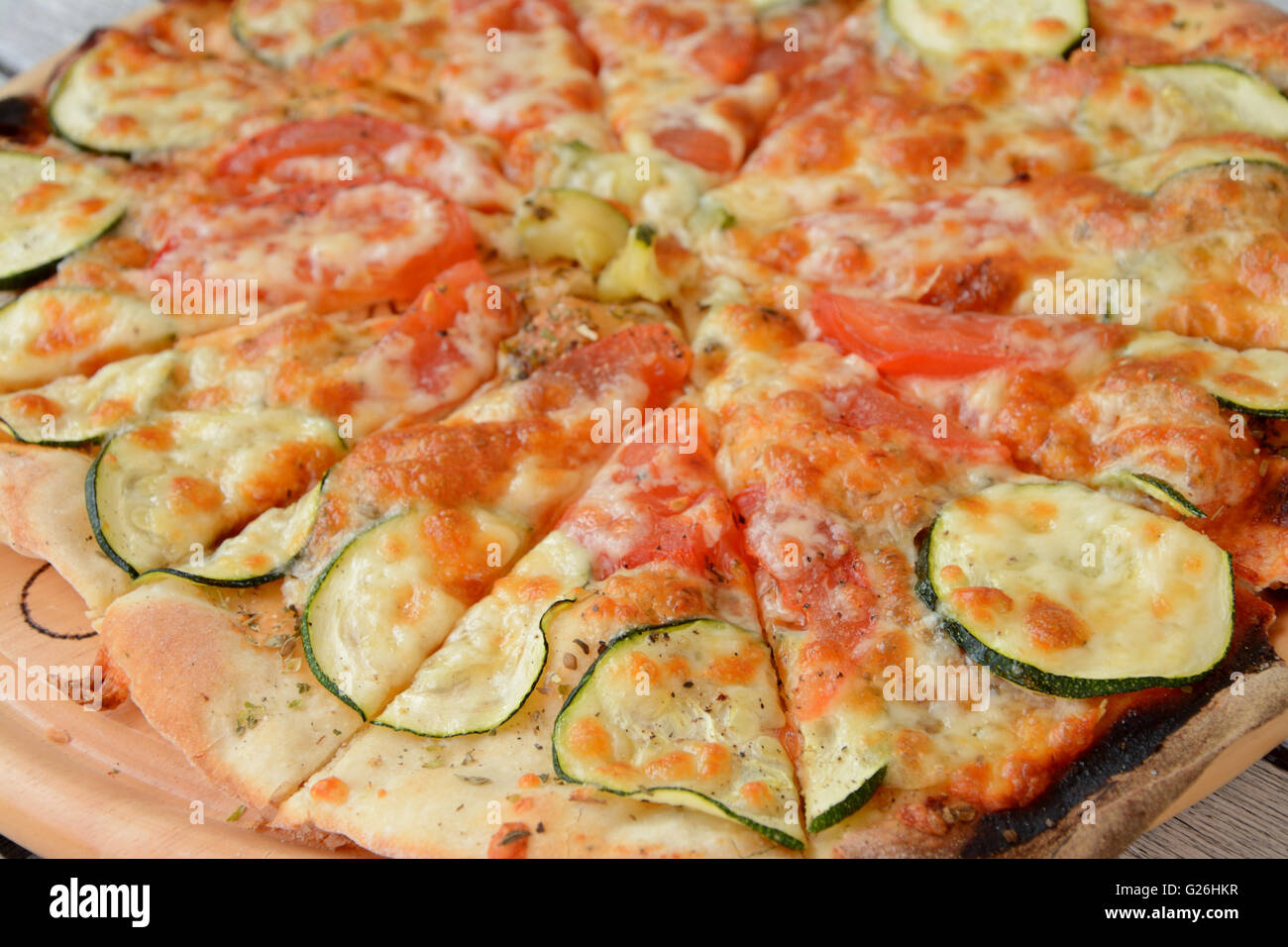 Home made pizza close up. - Stock Image