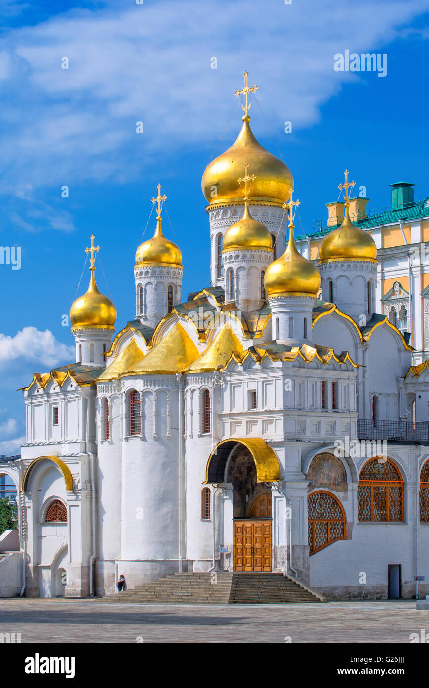 Annunciation Cathedral inside the Kremlin, Moscow - Stock Image