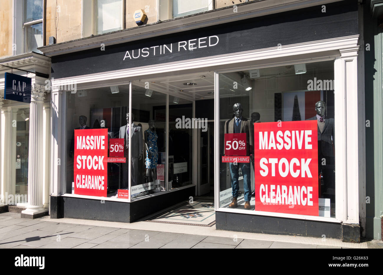 Austin Reed Store Bath England Stock Photo Alamy