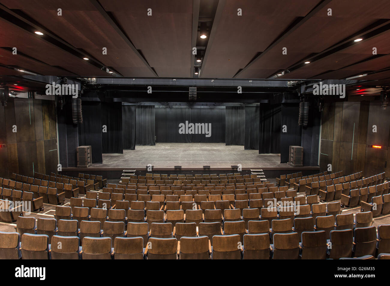 Salle Octave Cremazie Hall is pictured in the Grand Theatre de Quebec arts complex in Quebec city, April 6, 2016. - Stock Image