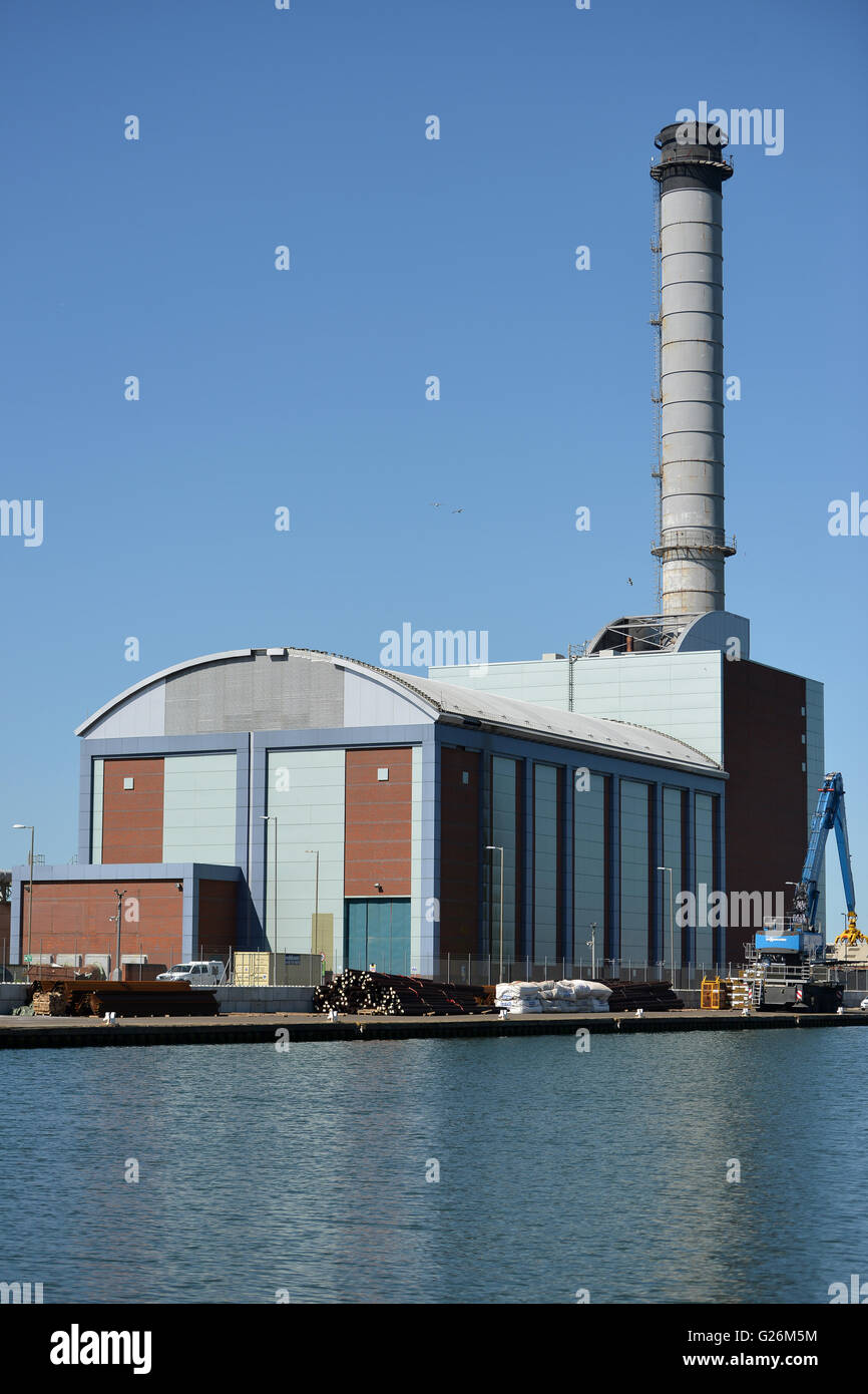 Shoreham 420MWe combined cycle gas-fired power station, East Sussex - Stock Image