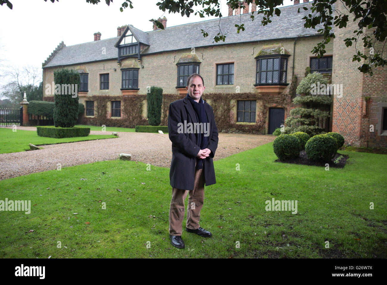 Ben Cowell, Director General of the Historic Houses Association, photographed at Chenies Manor House, Buckinghamshire, Stock Photo