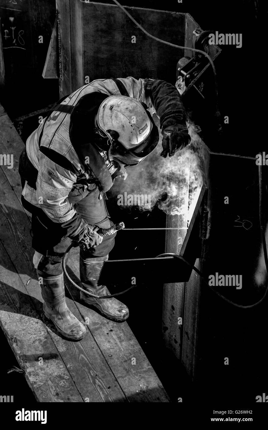 Welder working - Stock Image