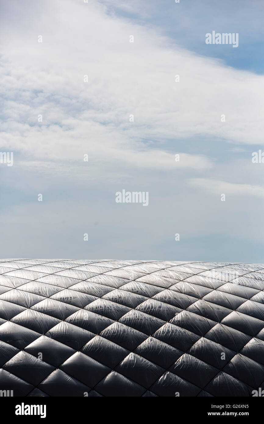 A large inflated tent used for covering sports pictches - Stock Image