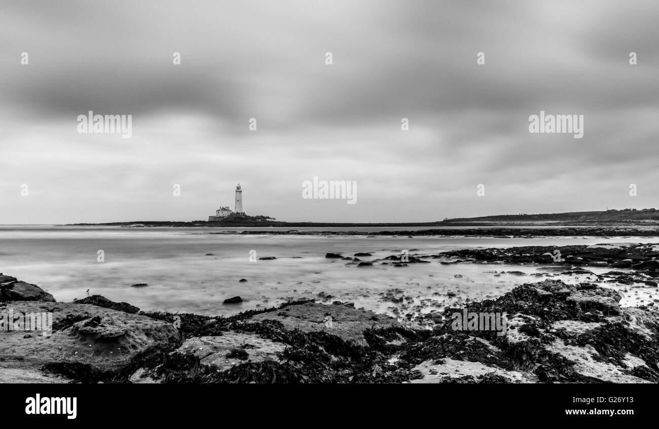 St. Mary's Lighthouse in Mono - Stock Image