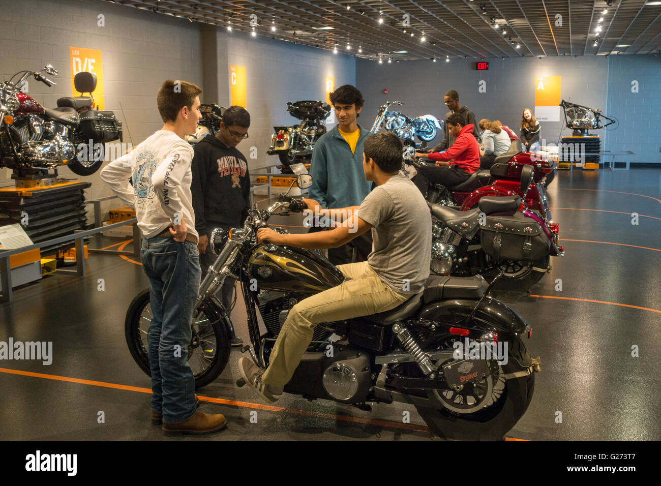 Harley Davidson motor cycles factory tour York PA Stock Photo ...