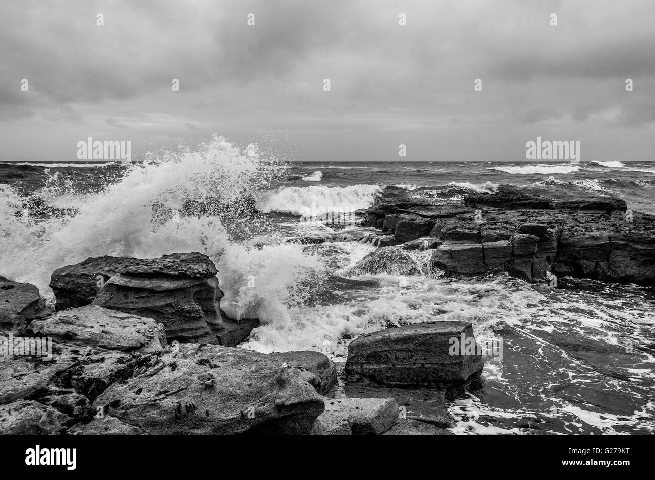 Sea Power Mono.......... - Stock Image