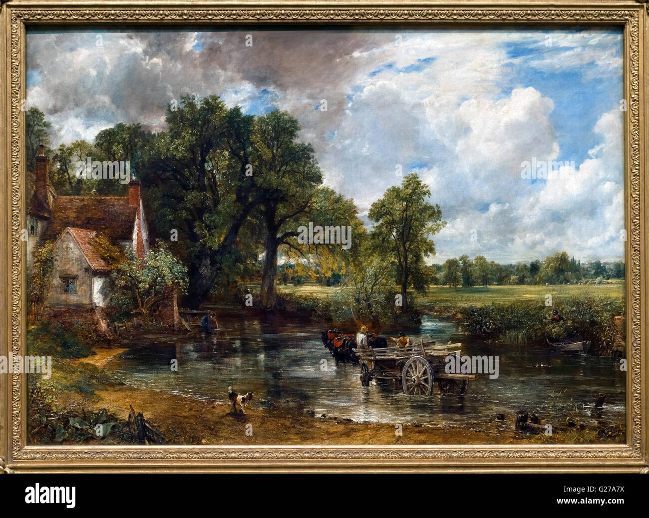 The Hay Wain by John Constable, oil on canvas, 1821. Stock Photo