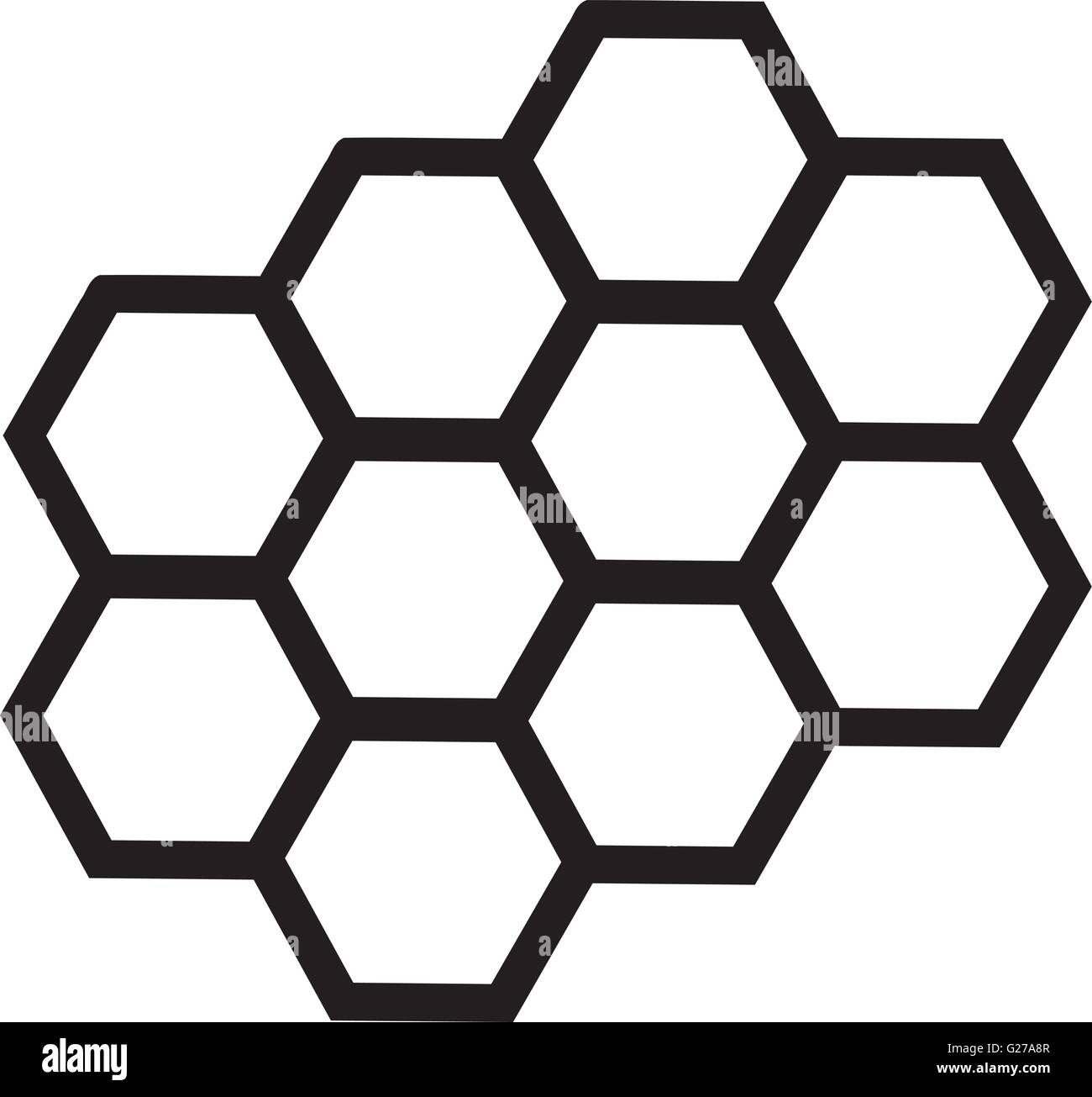 honeycomb outline stock vector art illustration vector image rh alamy com honeycomb vector background honeycomb vector background