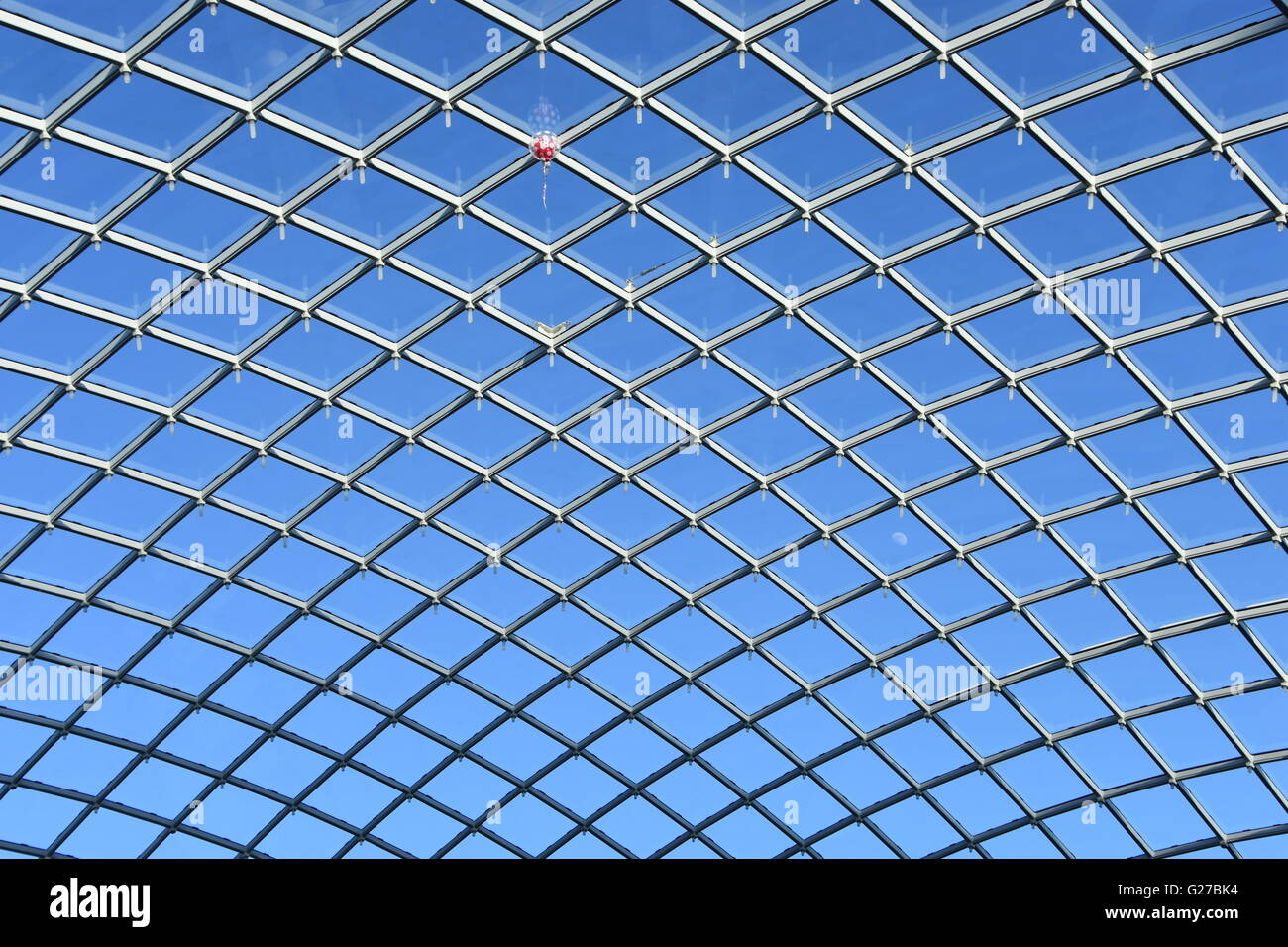 Glass roof of Trinity Shopping Centre, Leeds - Stock Image