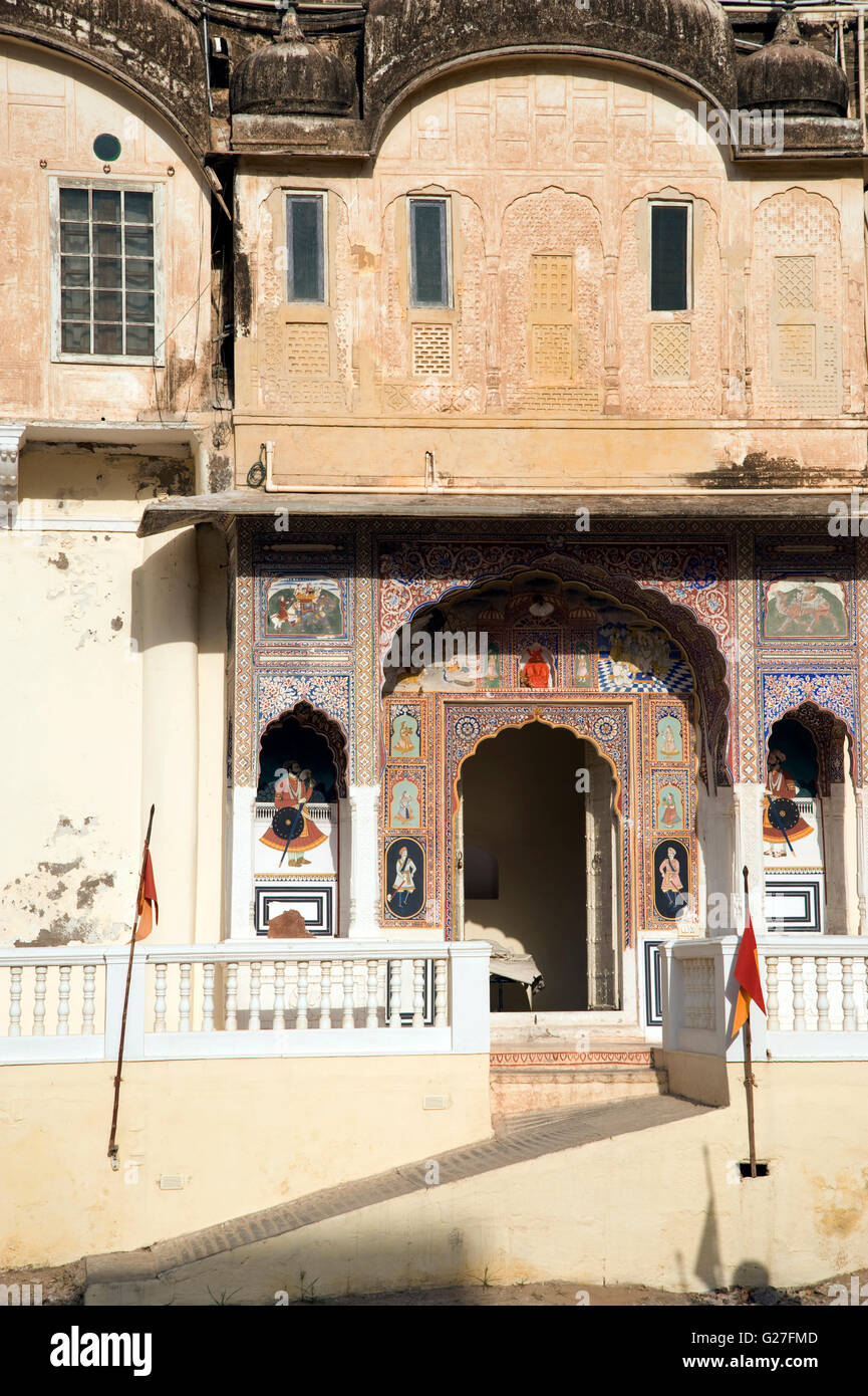 The image of Hotel castle Mandawa fort in Rajasthan, India - Stock Image