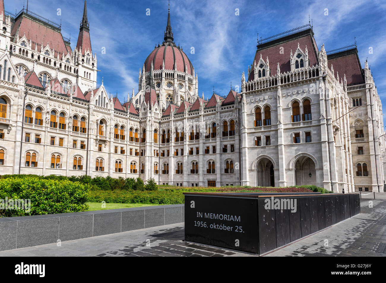 The Hungarian Parliament in Kossuth Sq Budapest - Stock Image