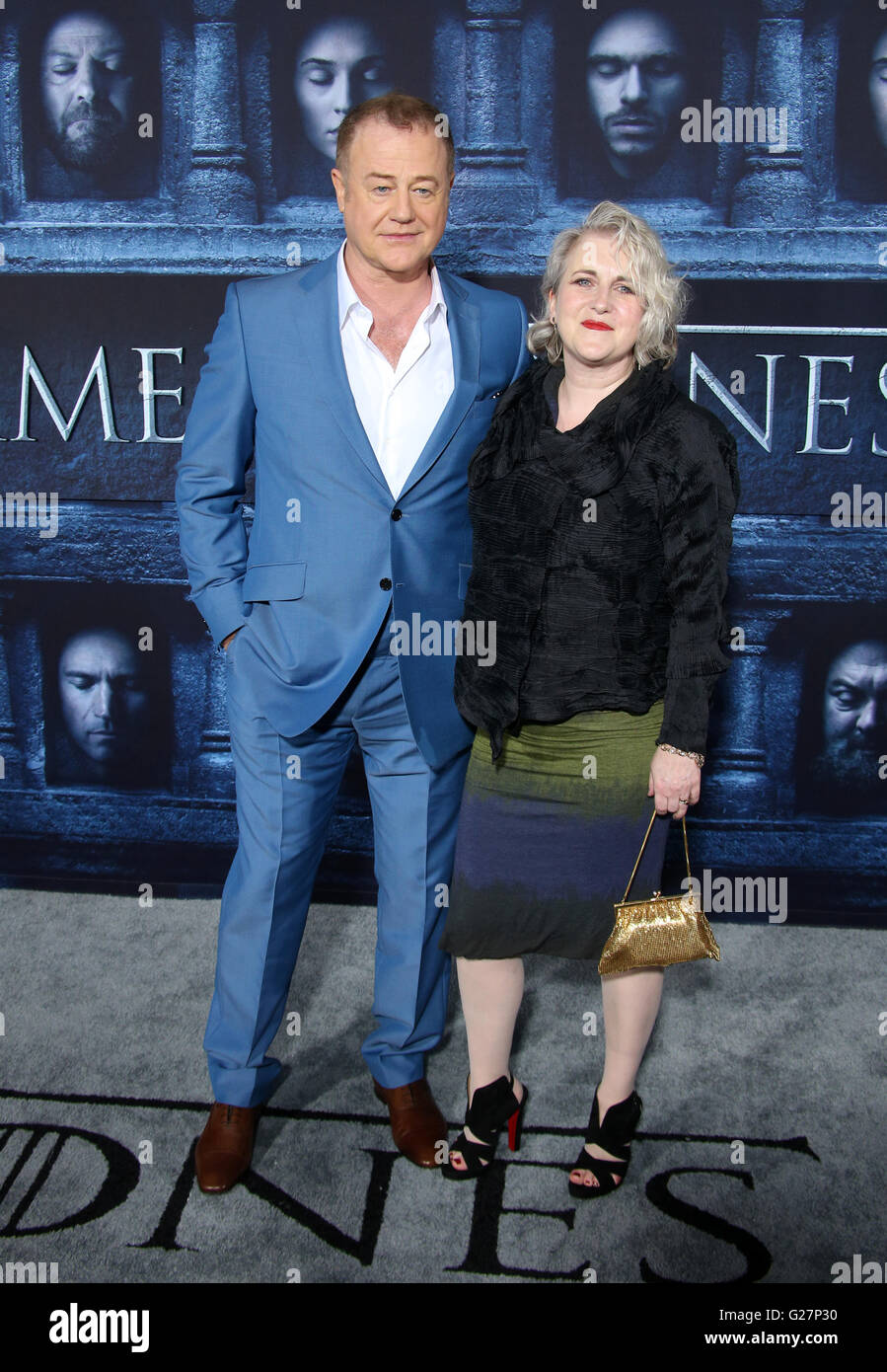 Los Angeles premiere for season 6 of HBO's 'Game of Thrones' - Arrivals  Featuring: Owen Teale, Sylvestra - Stock Image