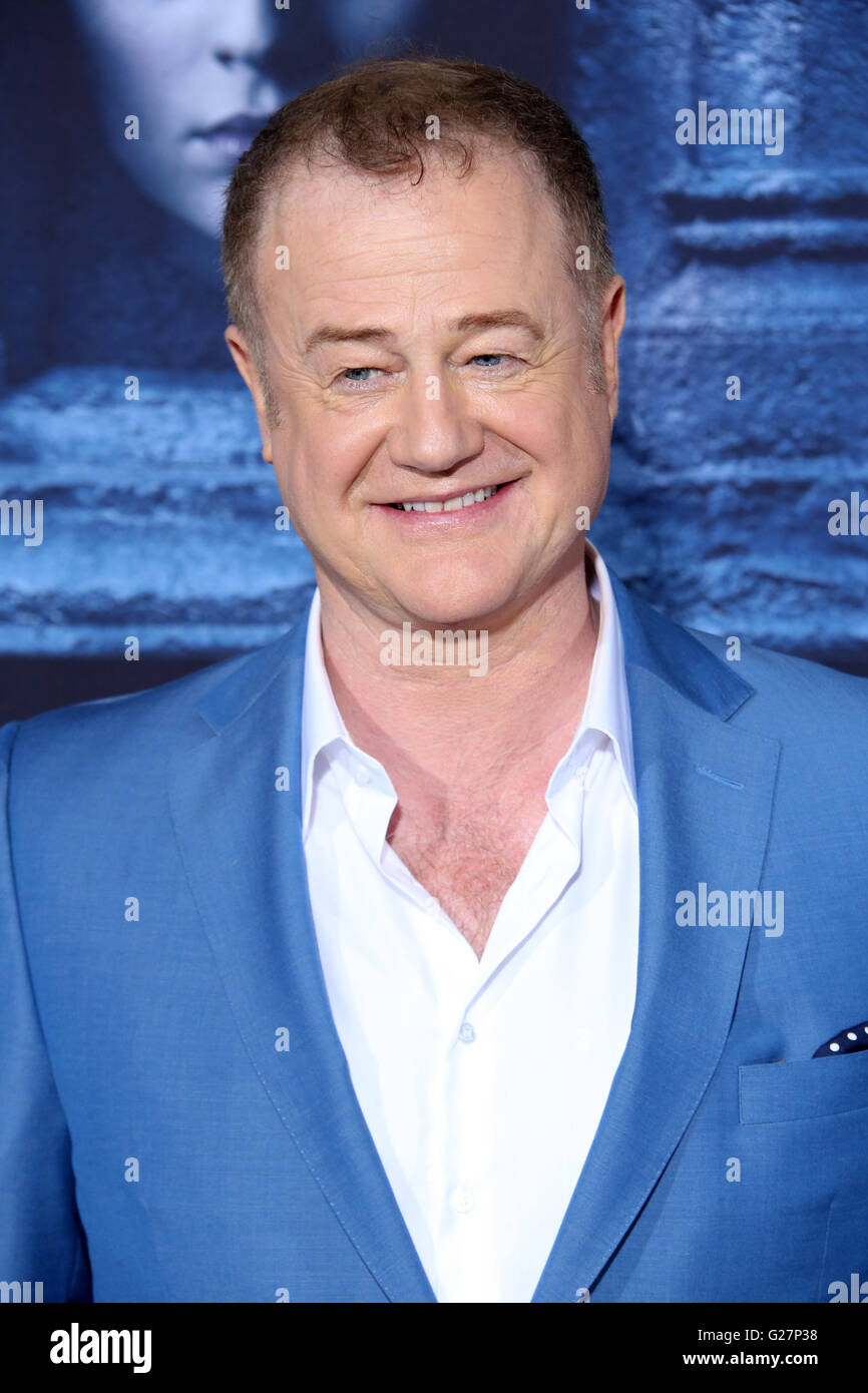 Los Angeles premiere for season 6 of HBO's 'Game of Thrones' - Arrivals  Featuring: Owen Teale Where: Los Angeles, Stock Photo