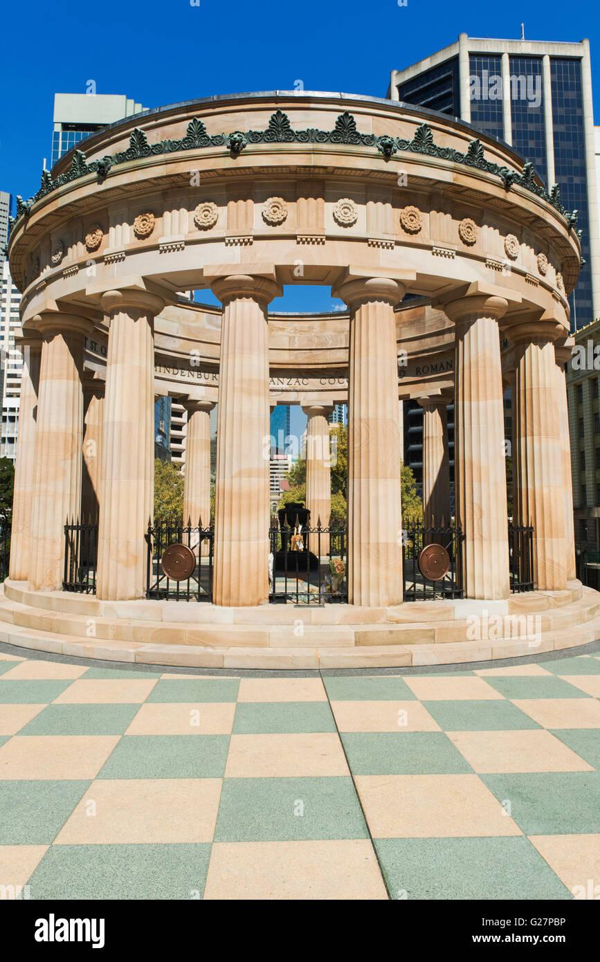Shrine of Remembrance, Anzac Square, Brisbane, Queensland, Australia - Stock Image