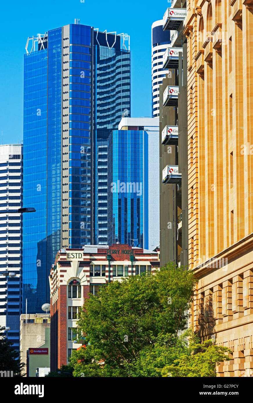 Financial District, Brisbane, Queensland, Australia - Stock Image