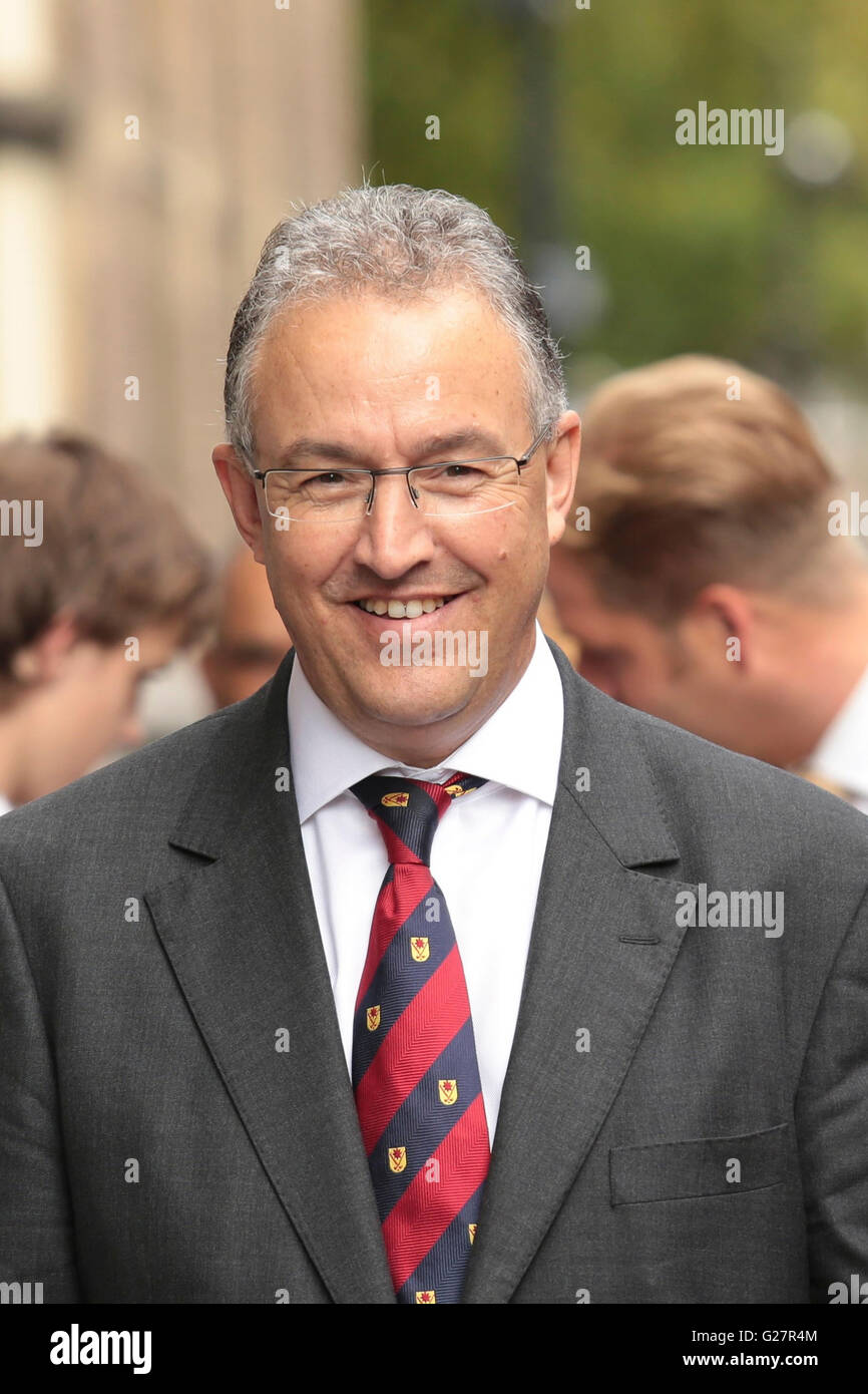Ahmed Aboutaleb, the mayor of Rotterdam, the Netherlands, during the opening of the new parliamentary year in the - Stock Image