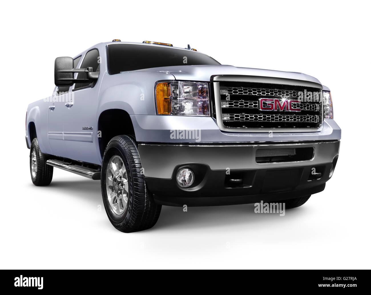 2012 GMC Sierra 2500HD, a General Motors pickup truck - Stock Image