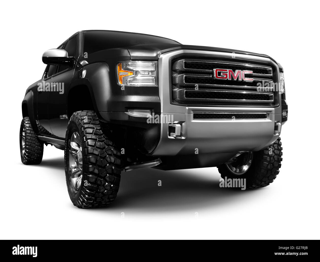 Black 2012 Gmc Sierra All Terrain Hd A Concept Pick Up Truck Stock Photo Alamy