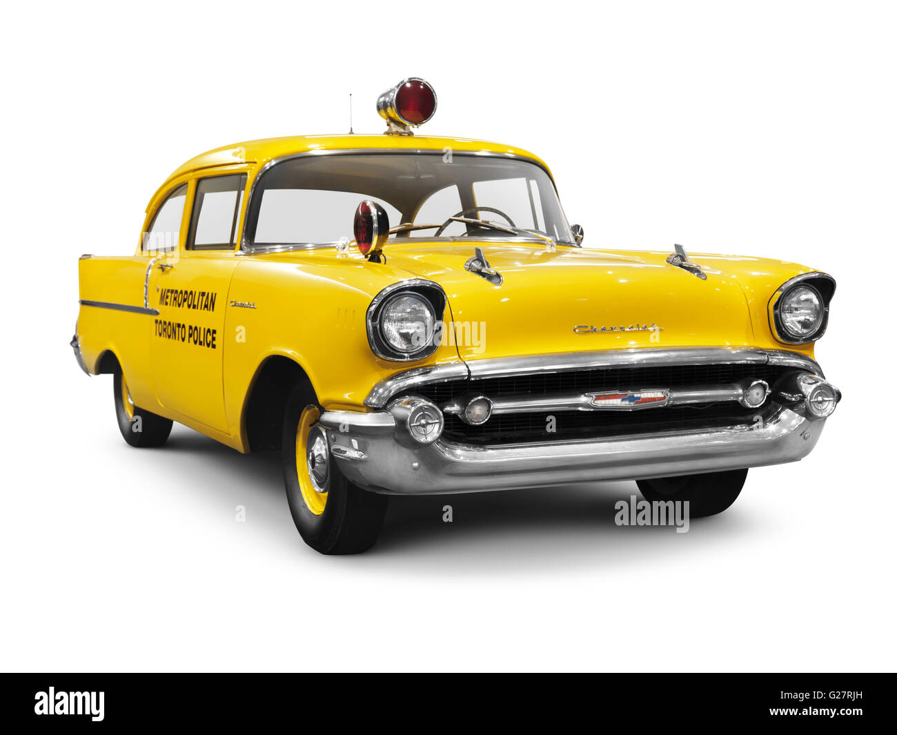 Chevrolet Cut Out Stock Images Pictures Alamy 1957 Sales Brochure 150 A Yellow Metropolitan Toronto Police Classic Car Image