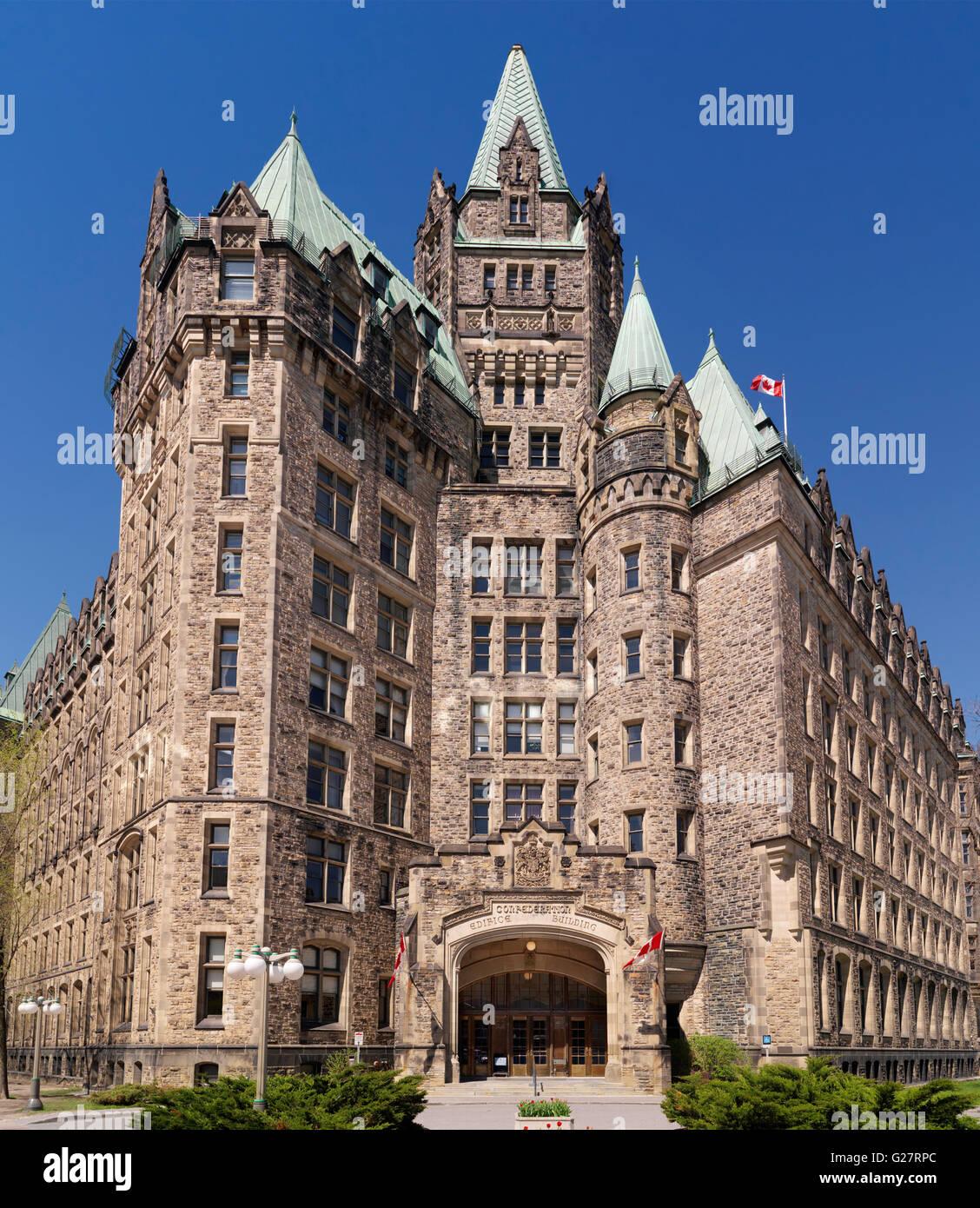 Confederation Edifice building in downtown Ottawa, Ontario, Canada - Stock Image