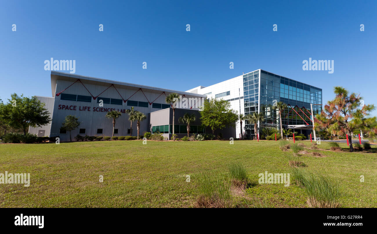 View of the Space Life Sciences Laboratory which serves as the primary gateway for experimental payloads bound for - Stock Image
