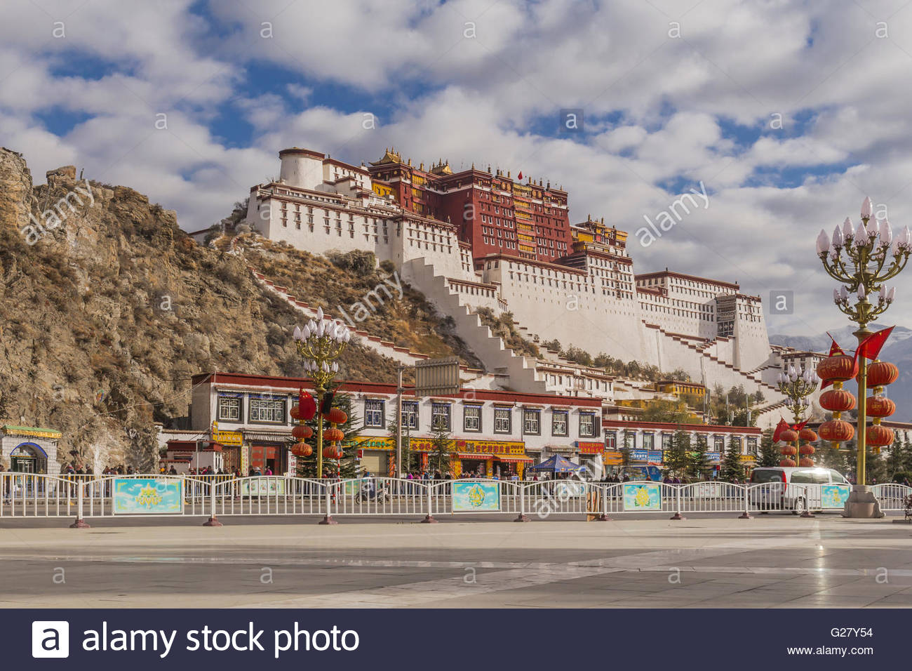 The Potala Palace in Lhasa - Stock Image