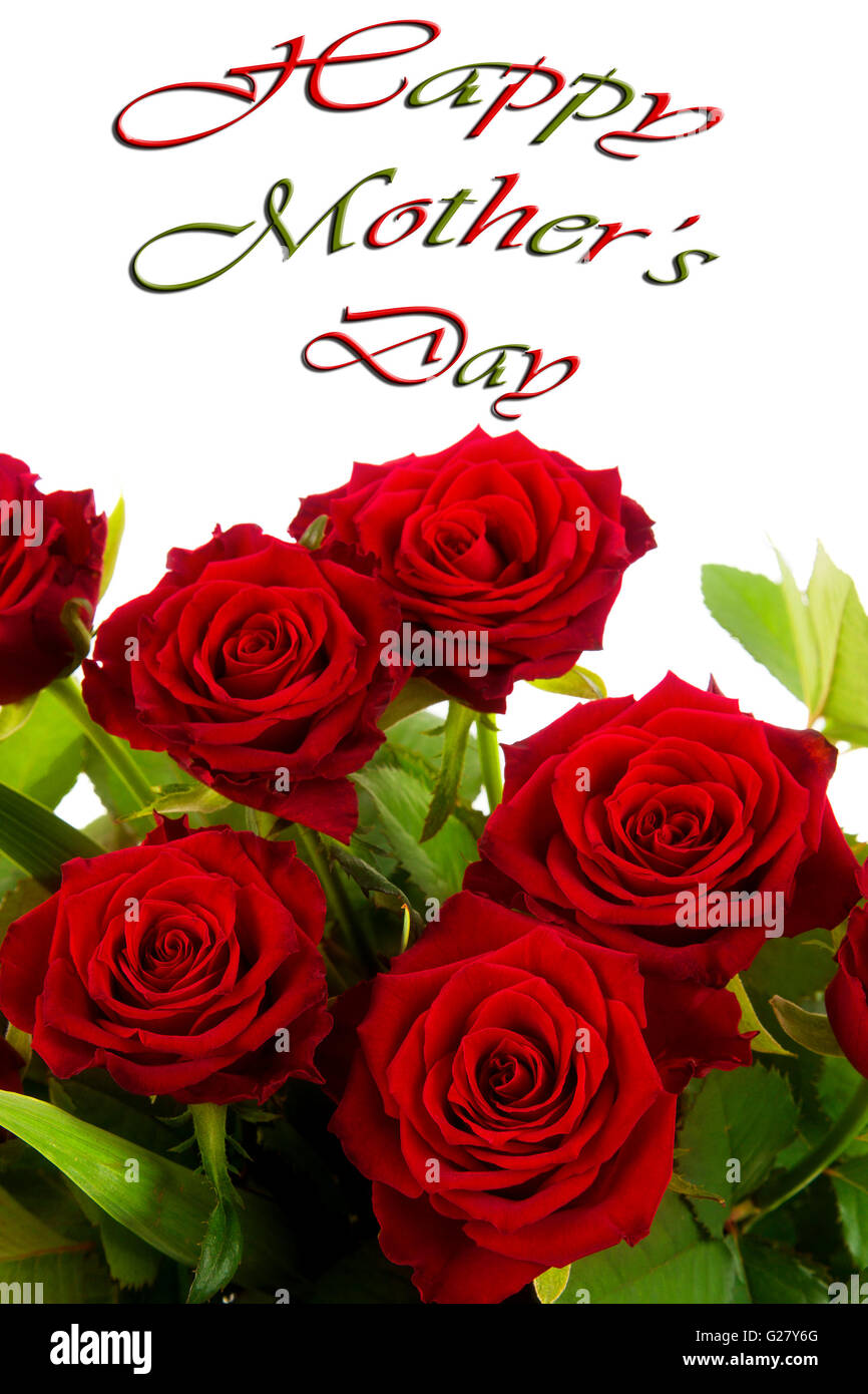 happy mothers day cards red
