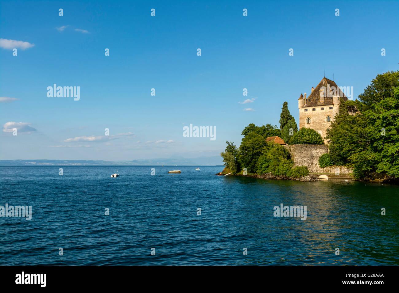 Castle of Yvoire. Lake Leman. Haute Savoie.  France - Stock Image