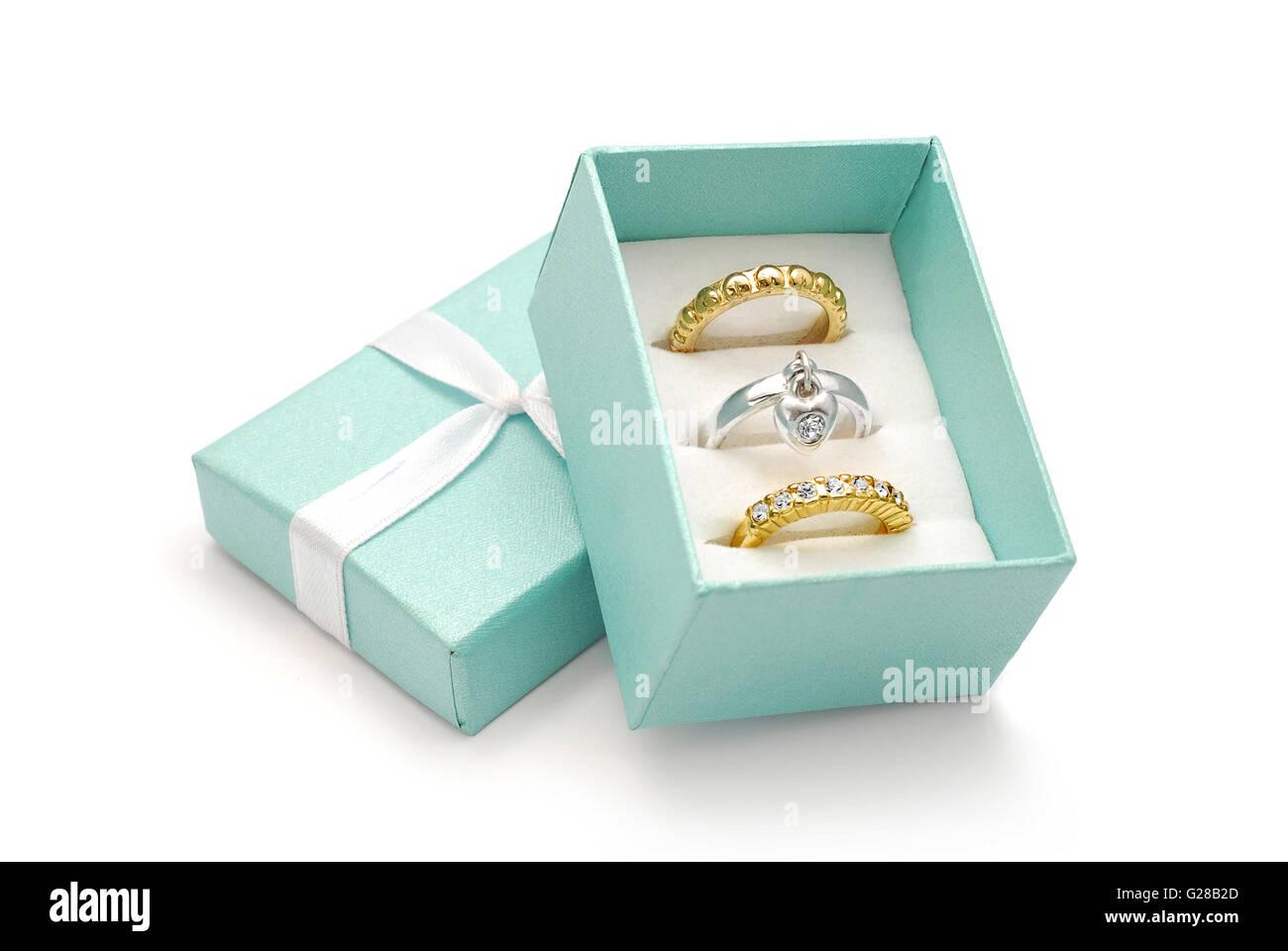 ring set box - Stock Image