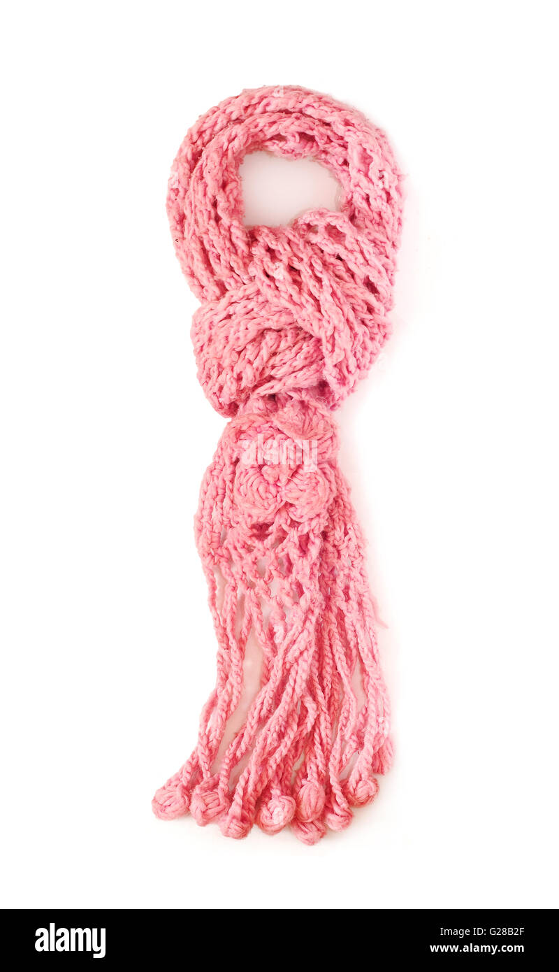 wool scarf isolated - Stock Image