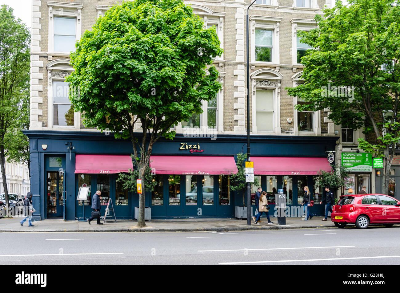 A Zizzi Italian Restaurant In On Bayswater Road Notting Hill Gate