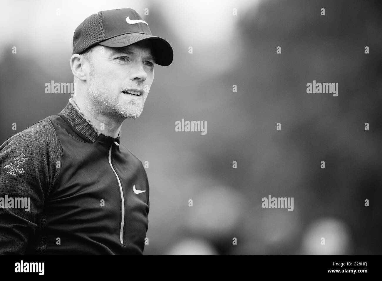 WENTWORTH, UK: May, 25, 2016 Ronan Keating plays in the BMW PGA Celebrity Pro-Am at Wentworth. - Stock Image