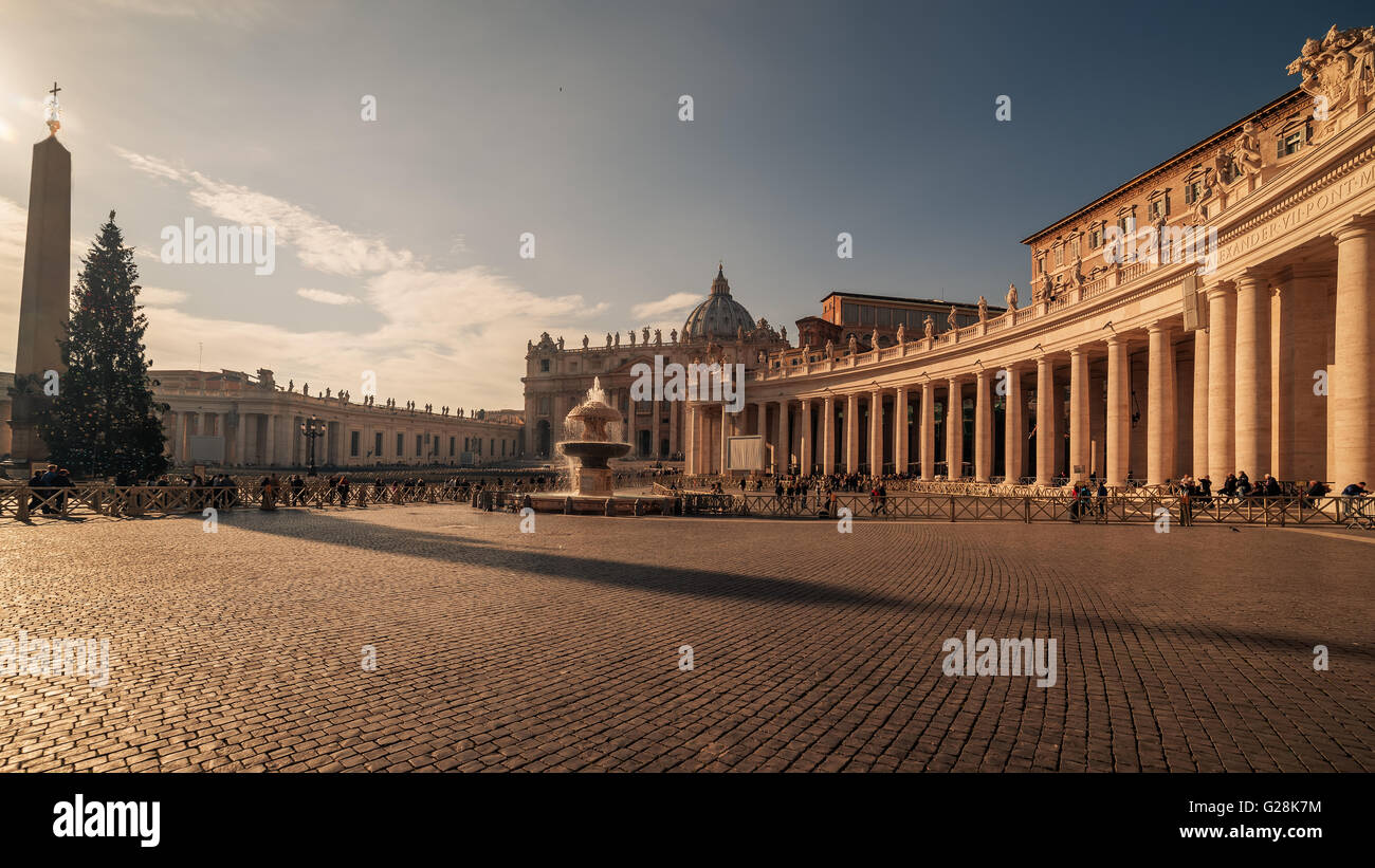 Vatican City and Rome, Italy: St. Peter's Square - Stock Image