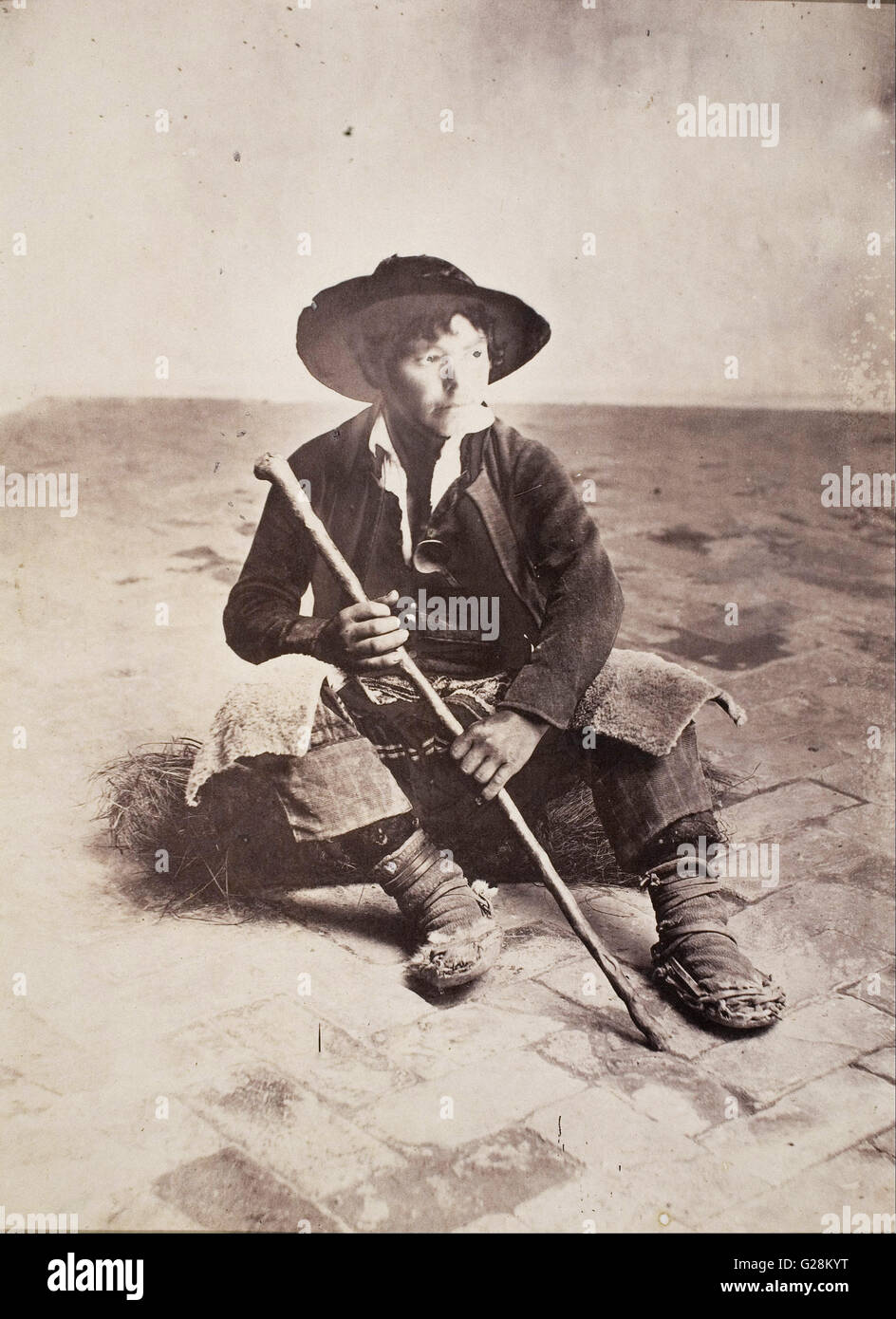 Robert Peters Napper - Seville, Andalusian shepherd boy  - MNAC - Barcelona - Stock Image