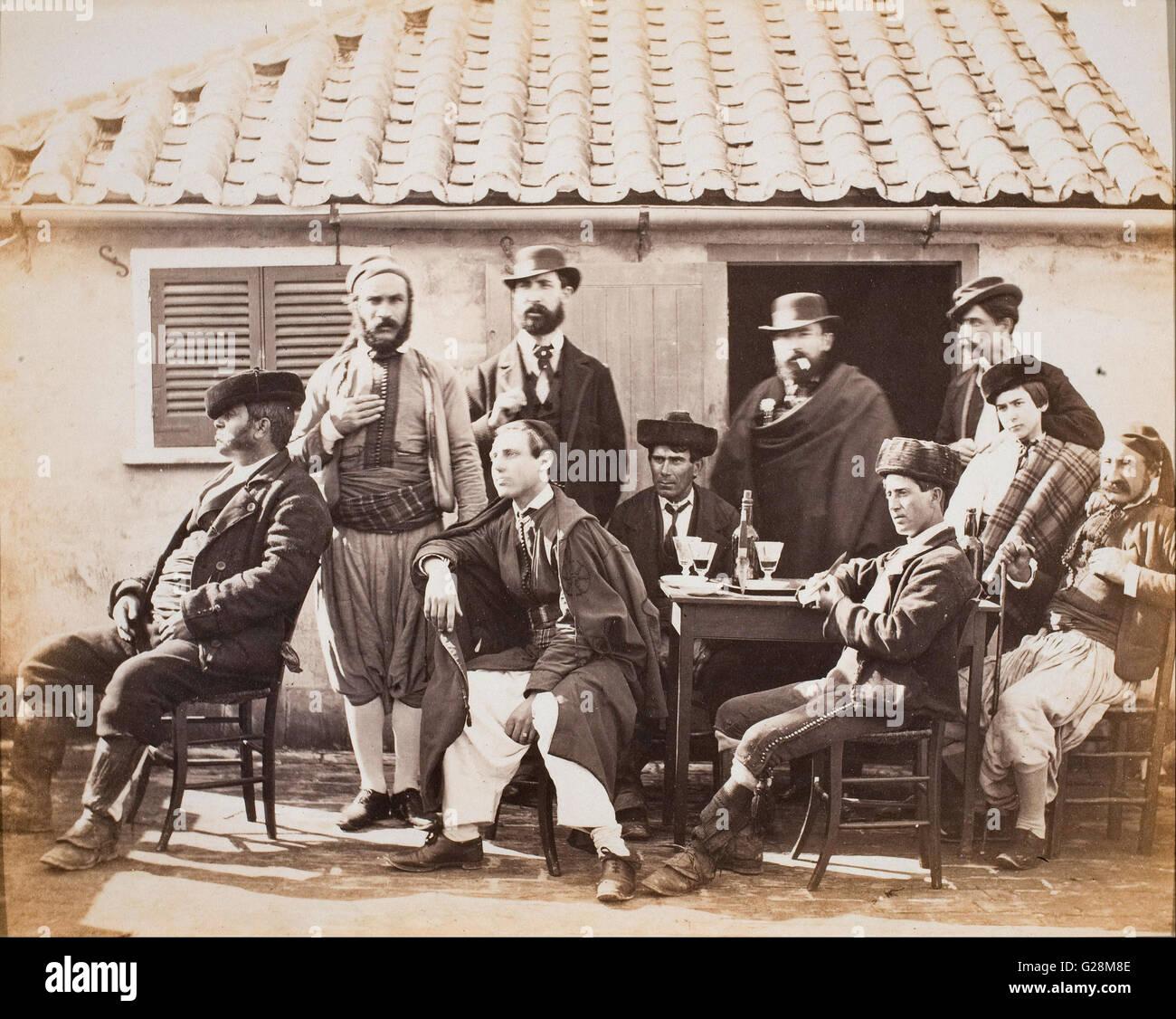 Robert Peters Napper - Gibraltar, group of smugglers  - MNAC - Barcelona - Stock Image