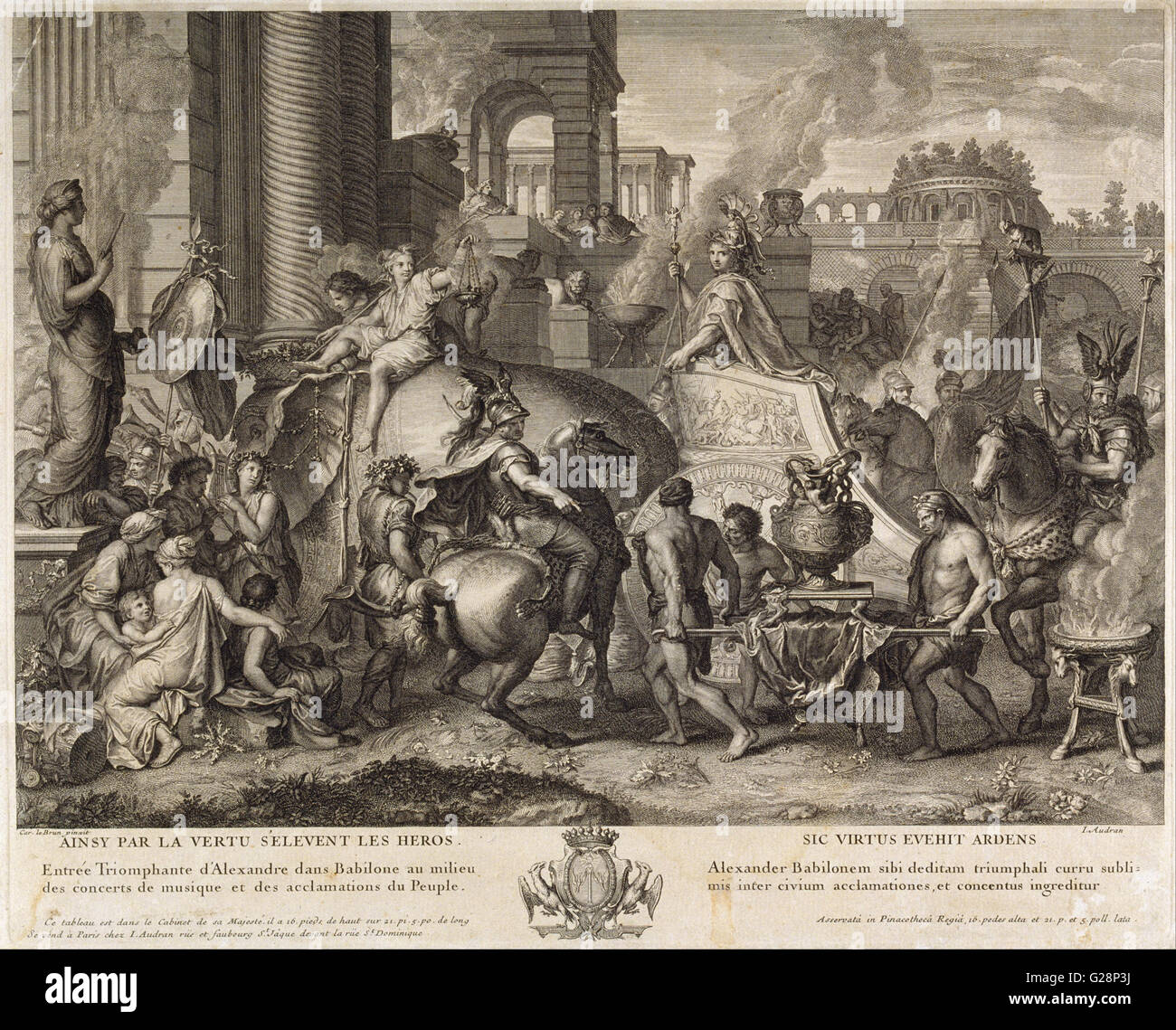 Jean Audran - Alexander the Great Enters Babylonia  - MNAC - Barcelona - Stock Image
