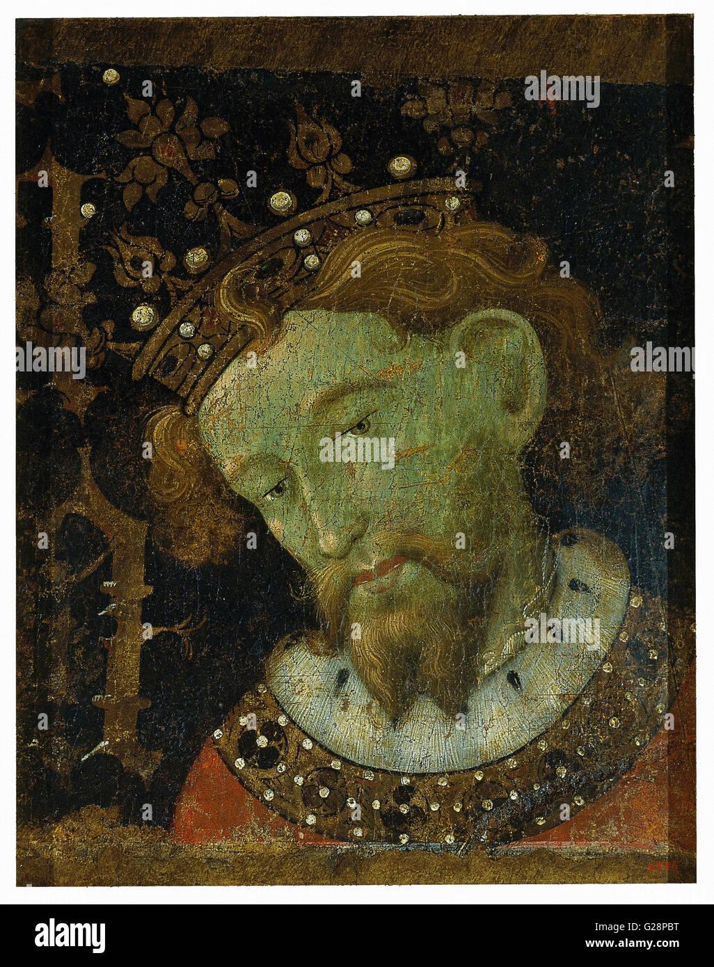 Jaume Mateu - Alfons III the Liberal  - MNAC - Barcelona - Stock Image