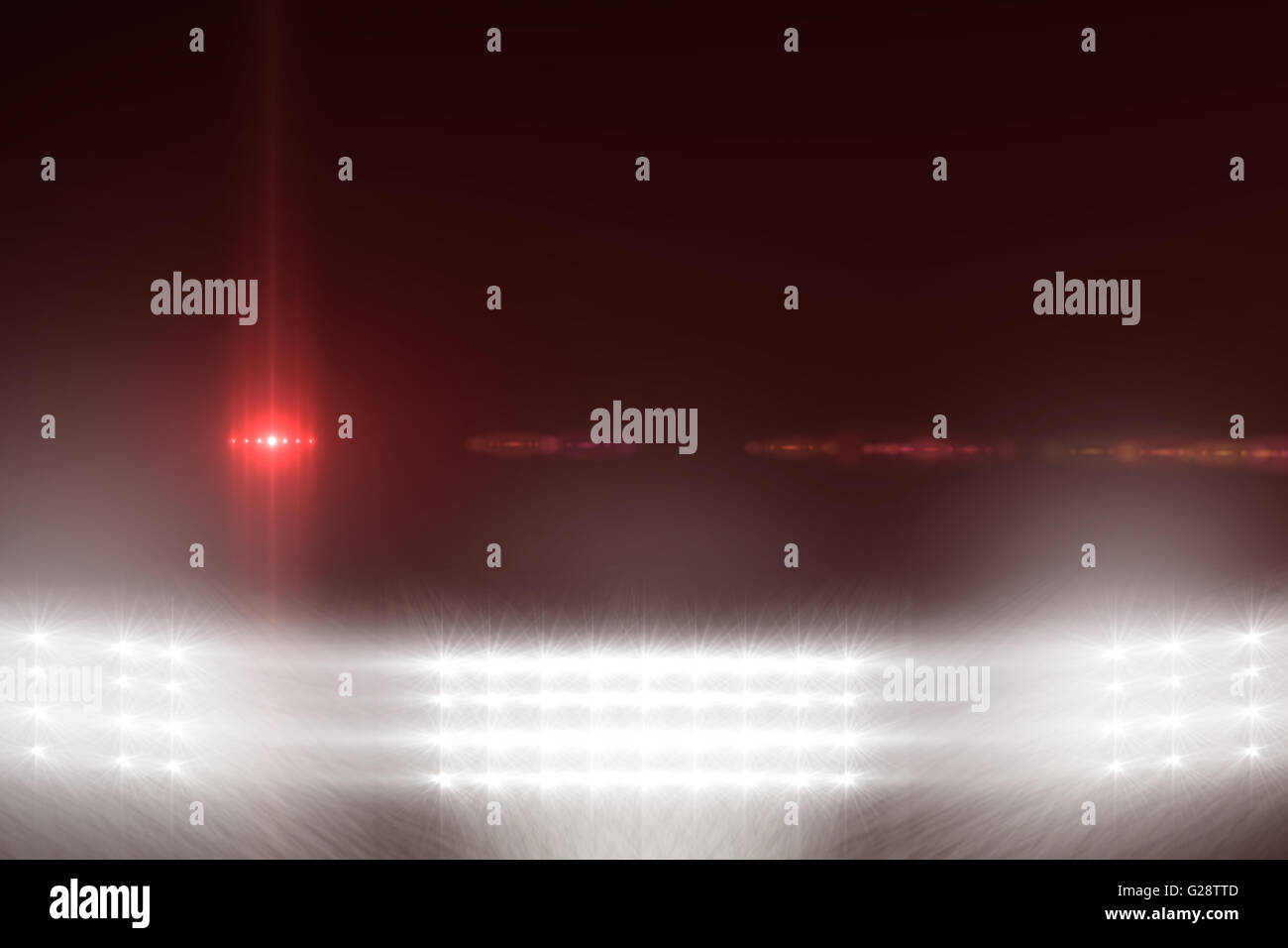 Digitally generated image of Spotlights - Stock Image