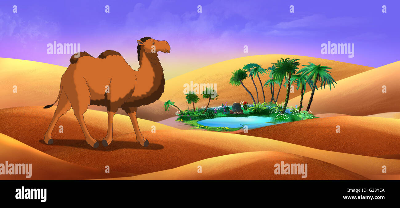 Painting Of Camel Stock Photos & Painting Of Camel Stock