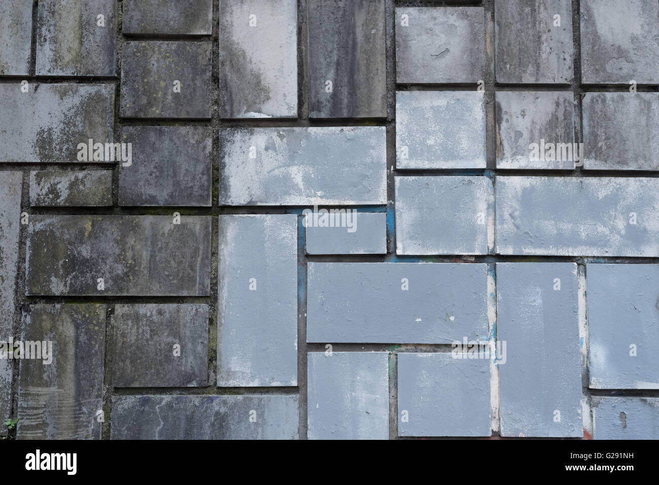 Dirty blue gray ceramic tile wall, Bilbao, Spain Stock Photo ...