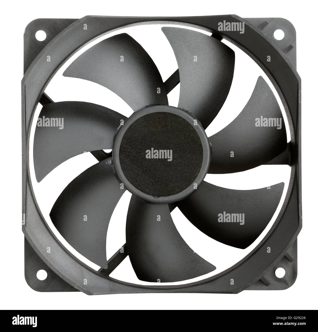 pc cooler fan isolated - Stock Image