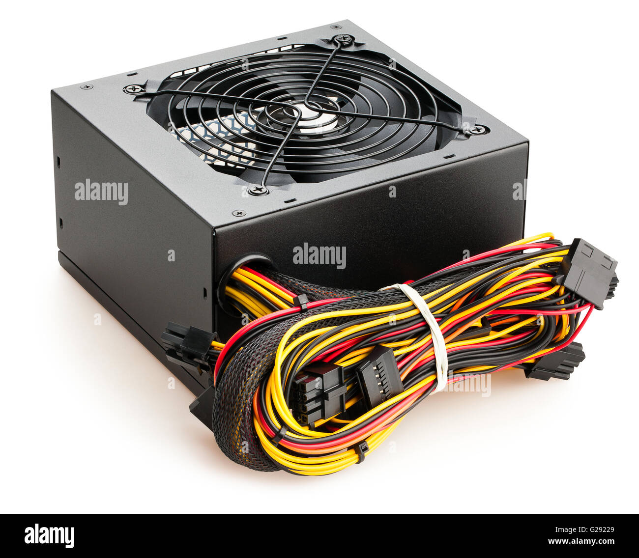 pc power supply isolated - Stock Image