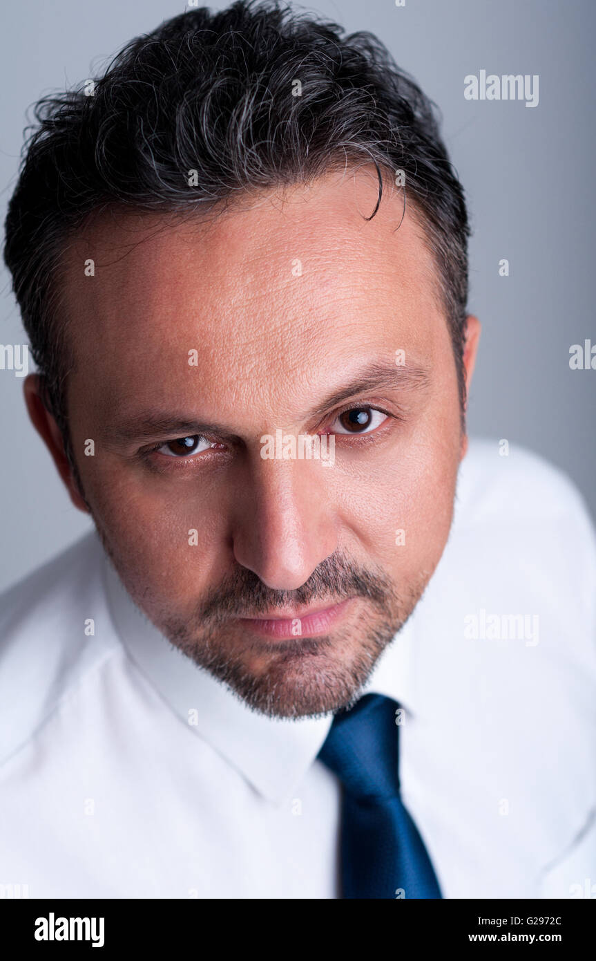 Calm, confident and reliable businessman or manager - Stock Image