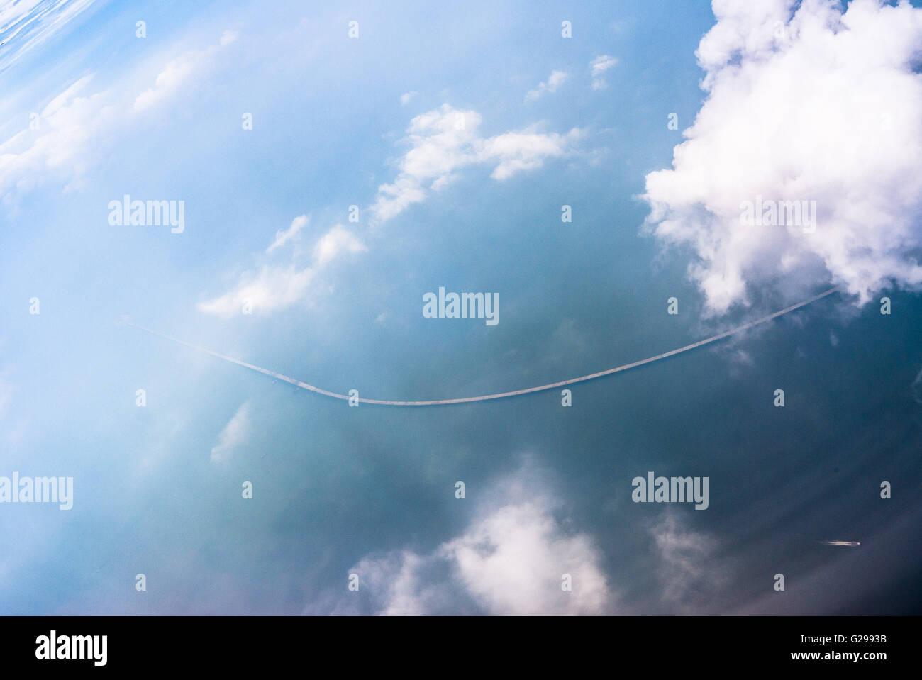 May 21, 2016 - Zhuhai, Zhuhai, CHN - Zhuhai, China - May 21 2016: (EDITORIAL USE ONLY. CHINA OUT) The Hong Kong¨CZhuhai¨CMacau - Stock Image