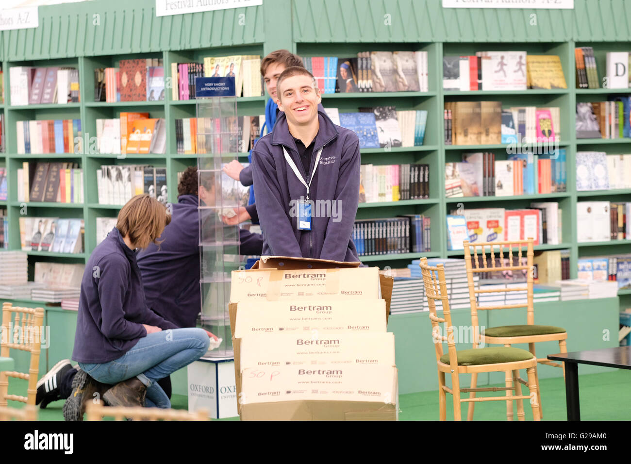 Hay Festival Hay on Wye, Wales, UK. 26th May, 2016.  Opening day for this years literary and arts festival which - Stock Image